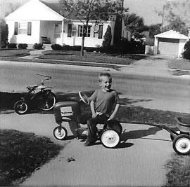 Ken Berry on trike